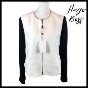Hugo Boss Koralie Color Block Zip Jacket Size 10